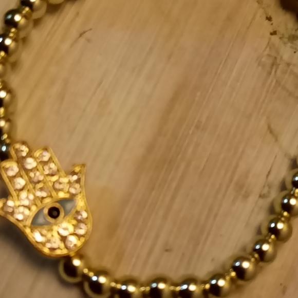Stretchy Evil Eye Bracelet $4 add-on item.